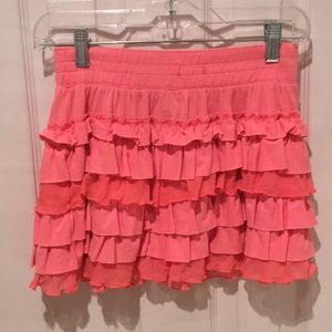 Orange/Pinkish Ruffle Skirt